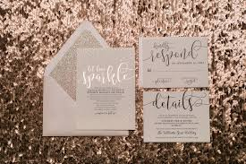 foil wedding invitations blush and gold glitter wedding invitations with foil sted