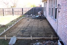 Patio Foundation Pouring A Concrete Slab
