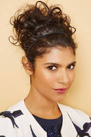 cool headbands curly hairstyles cool curly hairstyles with headbands picture on