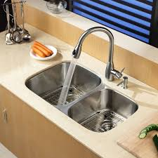 undermount kitchen sink with faucet holes faucet com kbu24 in stainless steel by kraus