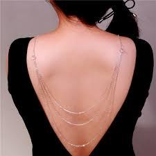 wedding backdrop necklace novel design multilayer backdrop necklaces back v