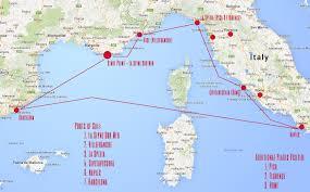 Map Mediterranean Royal Caribbean Mediterranean Cruise Map Punchaos Com