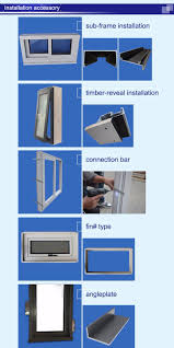 2017 latest design double glazed small aluminum basement sliding
