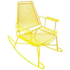 Mesh Patio Furniture Mid Century Metal Mesh Patio Rocking Chair At 1stdibs