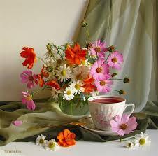 3d Flower Vase Nature Tea Cup Andonia Vase Flowers Soft 3d Flower Wallpapers