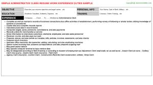 administrative clerk title docs