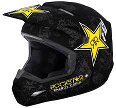 rockstar motocross gear elite rockstar matte black charcoal yellow helmet fly racing