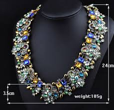 fashion collar necklace wholesale images Man ti european and american fashion new full color exaggerated jpg