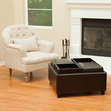 Coffee Table Storage Ottoman With Tray by Storage Ottoman With Tray Living Room Contemporary With Black