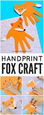 handprint fox craft easy fall crafts fox crafts and foxes