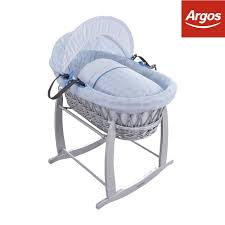 Argos Baby Swing Chair Clair De Lune Speckles Grey Wicker Moses Basket Blue The