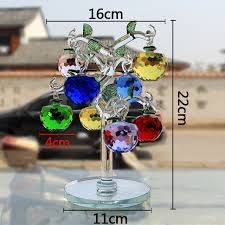 glass apple tree with 8pc apples fengshui crafts home decor