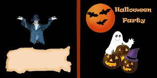 halloween party sign clip art