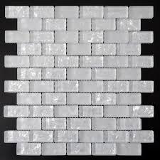 white subway tiles crackle crystal backsplash kitchen wall tile