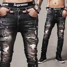 Mens Destroyed Skinny Jeans Compare Prices On Mens Ripped Destroyed Black Jeans Online