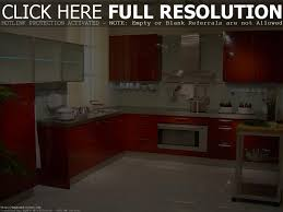 Red And White Kitchen by Modern Red And White Kitchen Design With Ceramic Floor Ceiling