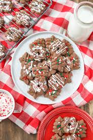 chocolate peppermint spritz cookies a kitchen addiction