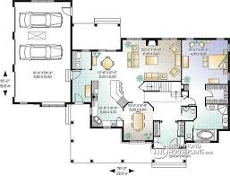 ranch plans with open floor plan house plan w2671 detail from drummondhouseplans