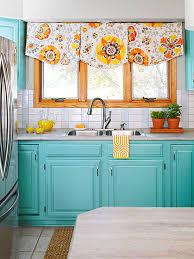 Colorful Tile Backsplash by Subway Tile Backsplash Turquoise Cabinets Subway Tile