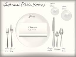 Formal Table Setting Diagram Different Table Settings Proper Way To Set A Table