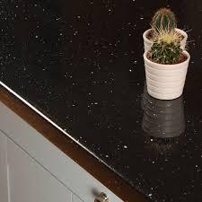 black sparkle effect laminate kitchen worktops andromeda
