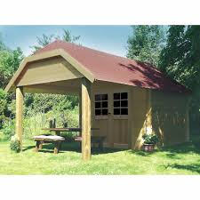 large garden shed 11 x 19 premium storage garage doors roof
