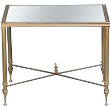 side table gold side table antique metal end table with glass