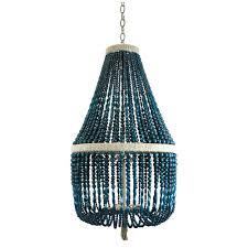 Beaded Turquoise Chandelier 18