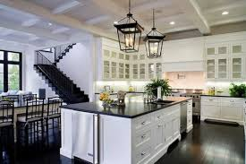 White Island Kitchen Modern White Kitchen Islands Near Stairs Kitchen Ideas