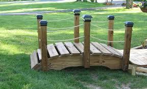 backyard bridges wood garden bridge plans build your own footbridge testimonials