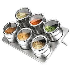 vasetti portaspezie acciaio inossidabile magnetico per spezie cucina di vasetti