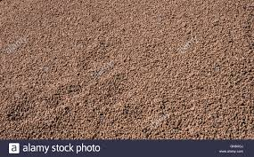 expanded clay aggregate used in construction for insulation and
