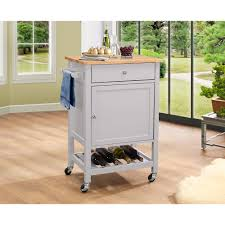 international concepts unfinished kitchen cart with butcher block