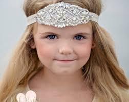 rhinestone headband flower girl headband flower girl rhinestone headband bling