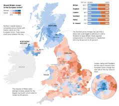 European Union Map Brexit Referendum Results Map 1 United Kingdom Withdrawal From
