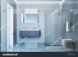 Showerroom by 3d Illustration Gray Modern Shower Room Stock Illustration