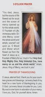 novenas 3 o clock prayer mercy
