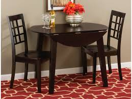 espresso dining table with leaf jofran dining room espresso finish round drop leaf table 552 28