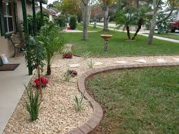 Front Landscaping Ideas by Personable Yard Landscaping Ideas For Front Landscape Rock Fence