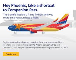 Southwest Flight Tickets by Southwest Targeting For Free Companion Pass After 5 Flights