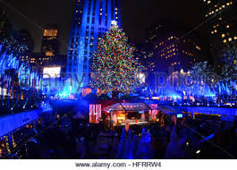 84th rockefeller center christmas tree lighting in new york city