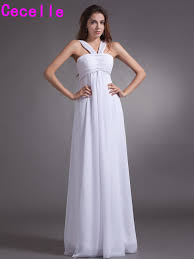 compare prices on long sleeveless white bridesmaid dresses online