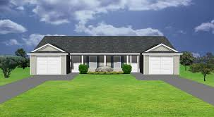 Duplex Building by Duplex House Plan J0224 16d Plansource Inc