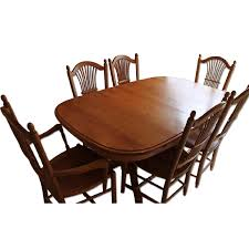 dining room table slides edrich mills wood shop dining table w 6 chairs aptdeco