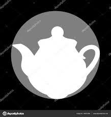 cercle de cuisine théière signe de cuisine icône blanche dans un cercle gris à noir