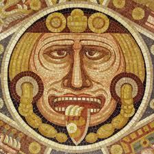tonatiuh aztec sun god aztec sun mosaic center flickr