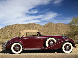 1938 mercedes benz 540k cabriolet a retro luxury e wallpaper