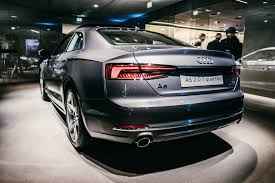 first audi ever made 2017 audi a5 s5 coupe shows up in the metal at german venues