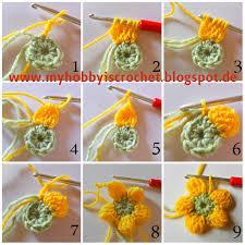 Free Pattern For Crochet Flower - my hobby is crochet crochet dahlia flower free pattern with