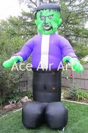 halloween decoration item green inflatable frankenstein in purple